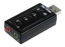 Placa De Som Usb 7.1 Canais 3d Adaptador Audiop2 Pc Notebook - Generico