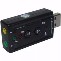 Placa De Som Usb 7.1 Canais Notebook Pc Adaptador Audio -