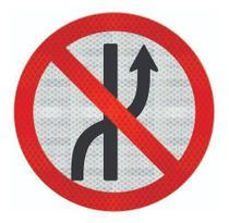 Placa De Trânsito Proibido Mudar De Faixa Cm R-8a - Artplacas