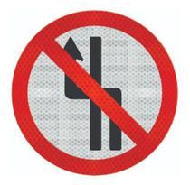 Placa De Trânsito Proibido Mudar De Faixa Cm R-8b - Artplacas
