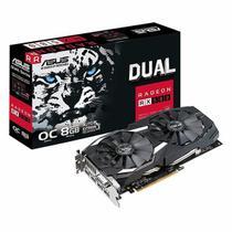 Placa de Vídeo Asus 8GB/  RX580 Dual Oc  / 256BIT / GDDR5 / DVI / HDMI / DP -