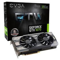 Placa De Video Evga Geforce Gtx 1070 Ftw Gaming Acx 3.0 8gb Ddr5 256bits - 08g-P4-6276-Kr