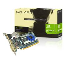 Placa de Vídeo GeForce Galax Mainstream Nvidia 71GGH4HXJ4FN GT 710, 1GB, DDR3, 64Bits