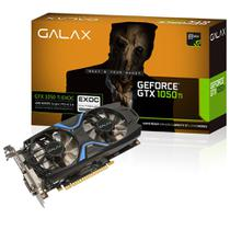 Placa de Vídeo Geforce GTX 1050Ti 4GB GALAX EXOC Black 128 Bits Directx 12 Dual Fan - 50IQH8DVN6EC