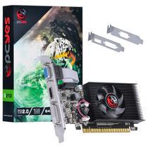 Placa de video nvidia geforce g 210 1gb ddr3 64 bits com kit low profile single fan - pa210g6401d3lp - pcyes -