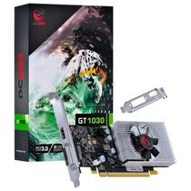 Placa de video nvidia geforce gt 1030 2gb gddr5 64 bits com kit low profile single fan - Pcyes