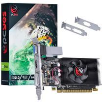 Placa de Vídeo Nvidia  Geforce Gt710 2Gb Ddr3 64 Bits Kit Low Profile Single Fan PA710GT6402D3LP Pcyes -