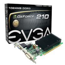 Placa de Vídeo P/ Computador Nvidia Geforce 210 1GB DDR3 Low Profile EVGA 01g-p3-1313-kr -