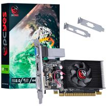 Placa de Vídeo PCYes NVIDIA GeForce GT 710 2GB, DDR3 - PA710GT6402D3LP -