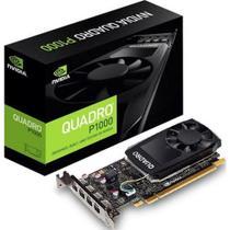 Placa de video Quadro nvidia P1000 4gb Gdd5 128 Bits Vcqp1000-Porpb - Suporta Até 4 Monitores/Tv - Pny