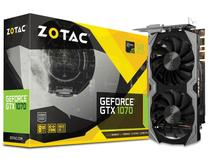 Placa de Video Zotac Geforce Entusiasta GTX 1070 8GB DDR5 256BIT 8008MHZ  DVI HDMI DP ZT-P10700G-10M