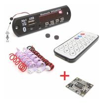 Placa Decodificador Usb Mp3 Bluetooth + Amplificador Estéreo - Tecnotronics