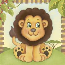 Placa Decorativa 3D Litoarte DHPM5-204 19x19cm Leão -