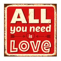 Placa decorativa All You Need 25x25 cm Preto - Kapos