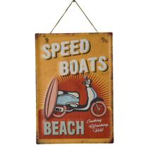Placa Decorativa Beach Speed Em Ferro L28Xp0,05Xa40Cm - 24230 - L hermitage