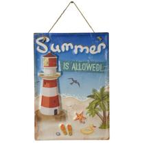 Placa Decorativa Beach Summer Em Ferro L28Xp0,05Xa40Cm - 24207 - L hermitage