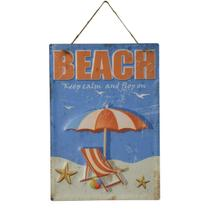 Placa Decorativa Beach Sun Em Ferro L40Xp28Cm - 24204 - L hermitage