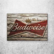Placa Decorativa Bebidas Logo Budweiser - Fabrika De Festa