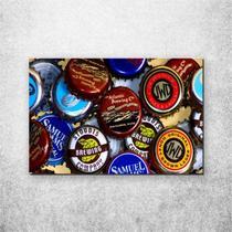 Placa Decorativa Bebidas marcas de cerveja - Fabrika De Festa