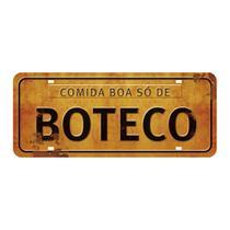 Placa Decorativa Comida Boa só de Boteco 14,6x35cm DHPM2-041 - Litoarte -