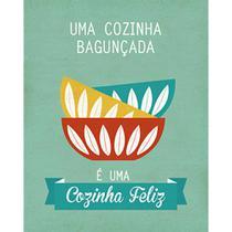 Placa Decorativa Cozinha Feliz 24x19cm DHPM-138 - Litoarte -