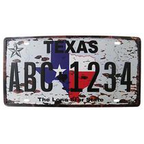Placa Decorativa de Carro Alto-Relevo de Metal Retro Vintage Texas (93172) - Yan