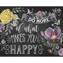 Placa Decorativa Do More Of What Makes You Happy 24x19cm DHPM-189 - Litoarte -