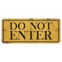 Placa Decorativa Do Not Enter 14,6x35cm DHPM2-022 - Litoarte -