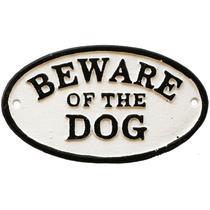 Placa Decorativa em Ferro Beware Of The Dog Urban -