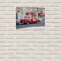 Placa Decorativa em MDF Caminhão de Entrega Antigo Coca Cola 30x40 - Prego E Martelo
