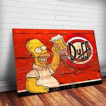 Placa Decorativa Em Mdf Com 20x30cm - Cerveja Duff Simpsons - Coisaria
