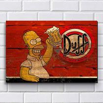 Placa Decorativa em MDF com 20x30cm - Modelo P116 - Cerveja Duff Simpsons - R+ adesivos