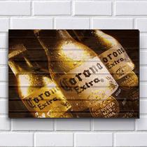 Placa Decorativa em MDF com 20x30cm - Modelo P151 - Cerveja Corona - R+ adesivos