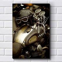 Placa Decorativa em MDF com 20x30cm - Modelo P179 - Harley - Davidson - R+ adesivos