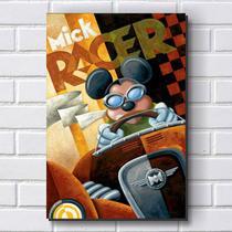 Placa Decorativa em MDF com 20x30cm - Modelo P209 - Moto Mickey - R+ adesivos