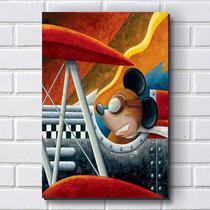 Placa Decorativa em MDF com 20x30cm - Modelo P210 - Moto Mickey - R+ adesivos