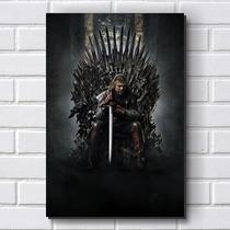 Placa Decorativa em MDF com 20x30cm - Modelo P290 - Game of Thrones - R+ adesivos
