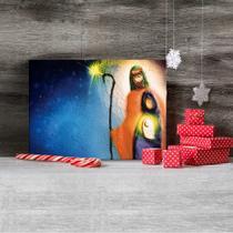 Placa Decorativa em MDF Presépio em Pintura 30x40cm - Quartinhos