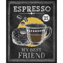 Placa Decorativa Espresso Is My Best Friend 24x19cm DHPM-184 - Litoarte -