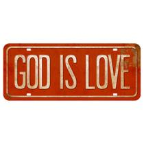 Placa Decorativa God Is Love 14,6x35cm DHPM2-051 - Litoarte -
