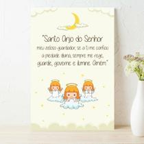 Placa Decorativa Infantil Oração Anjo da Guarda Lua 20x30 - Quartinhos