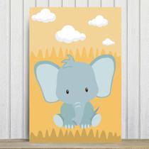 Placa Decorativa Infantil Safari Elefante MDF 30x40cm - Quartinhos