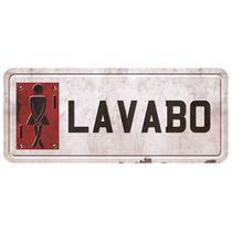 Placa Decorativa Lavabo Feminino 14,6x35cm DHPM2-019 - Litoarte -
