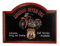 Placa decorativa legends vintage retro - Tok Vintage