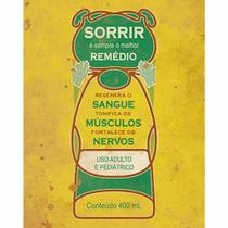 Placa Decorativa Litoarte DHPM-278 24x19cm Sorrir é Sempre o Melhor Remédio -
