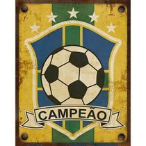 Placa Decorativa Litoarte DHPM-364 24x19cm Campeão -