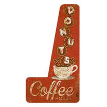 Placa Decorativa Litoarte DHPM6-001 44x24cm Coffee House -