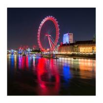 Placa decorativa London Eye 25x25 cm Preto - Kapos