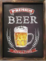 Placa Decorativa Madeira 30x40cm Premium Beer Mart -