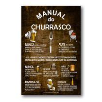 Placa Decorativa Manual do Churrasco Mdf 30x40 cm - Art Print